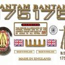 1969-71: BSA Bantam D175 decals - BSA Bantam Restorers Decalset
