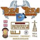 1964-69 : BSA Bantam D7 Trail Bronc decals - Bantam Trail Bronc restorers decalset