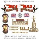 1956-57: BSA Bantam D3 Major decals- BSA Bantam Major restorers decalset
