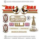 1949-55: BSA Bantam D1 Decals - D1 Restorers Decal Set