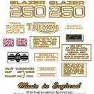 1971: Triumph T25T Trail Blazer Decals - Triumph T25T Restorers Decals