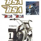 BSA Tank Decals - Gold filigree -1968 to 74 Models