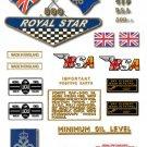 1968: BSA A50 Royal Star Decals - QUEENS AWARD - Restorers decal Set
