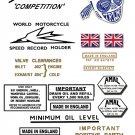 1959-60: Bonneville TR7B Decals - Triumph Bonneville Competition - Restorers decals