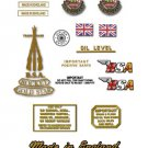 1961-63: BSA Rocket Gold Star -RESTORERS DECAL SET- BSA A10RGS Decals