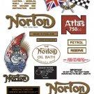 1962-68: Atlas Decals - FULL DECAL SET - Norton decals
