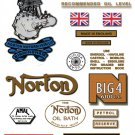 Norton BIG 4 Decals - RESTORERS DECAL SET - All 1947-54 models