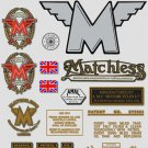1953-54: Matchless Decals -RESTORERS DECALSET- G3 G80 Stickers (Adhesive transfers)