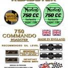 1970-73:750 Roadster- Norton Commando Roadster Decalset