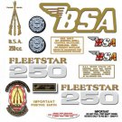 1971: BSA B25FS -BSA Fleetstar Decals- B52FS Decals