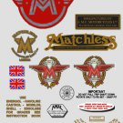 1963-69: Matchless Singles decals -RESTORERS DECALSET- G2 G3 G80 G85 Stickers (Adhesive transfers)
