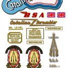 1959-63: BSA DBD34 Catalina Scrambler -RESTORERS DECAL SET- BSA Gold Star