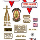 1967-68: BSA B44VR Decals - RESTORERS DECALSET - BSA Victor Roadster Stickers (Adhesive transfers)