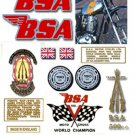 1971: BSA B50MX Decals - RESTORERS DECALSET - BSA Victor Moto cross Stickers (Adhesive transfers)