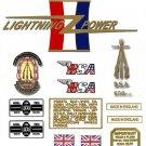 1967: BSA A65H TT - DECAL SET - BSA Hornet TT Special  Stickers (Adhesive Transfers)