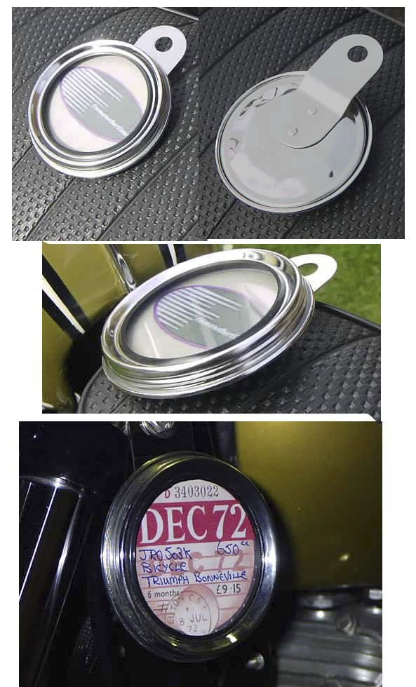TAX DISC HOLDER - Classic Traditional Style in Grey & Chrome