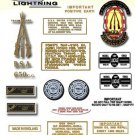 1971-72: BSA LIGHTNING - RESTORERS 4 SPEED DECALSET - BSA A65L Stickers (Adhesive Transfers)