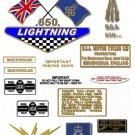 1968-69: BSA LIGHTNING - Queens Award To Industry Decalset - BSA A65L (Adhesive Transfers)