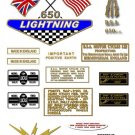 1968-69: BSA LIGHTNING - US Export version Decals - BSA A65L (Adhesive Transfers)