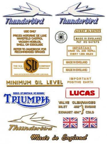 TRIUMPH Thunderbird motorcycles Varnish Transfer Decal