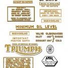 1964-67: Triumph Trophy Sports Decals - Triumph TR6C Decals