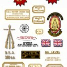 BSA Sport Star SS90 - Restorers Decals - Year 1962-65  Decals (Adhesive Stickers)