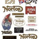 1962-68: Atlas Decals - FULL DECAL SET - Norton decals (Met Gold Version)