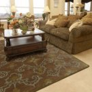 CHocolate flowered Rug