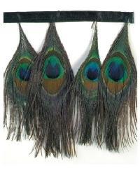 Peacock Coloured Tassels