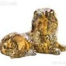 Patchwork Animal-Print Lion Figure