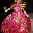 Silkstone Barbie hot pink and gold formal with golden wings - ed30