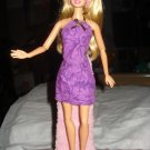 Short purple floral skirt and top set for Barbie Dolls - ed101