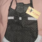 Large pet dress in black & white polka dots with ruffle and bow - dd07