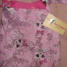 Large REVERSABLE Pet dress in pink skull print with sparkles - dd05