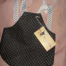 X-Small size pet dress with black & white polka dots- dd03