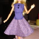 Circular skirt and top set in Purple for Barbie Doll - ed06