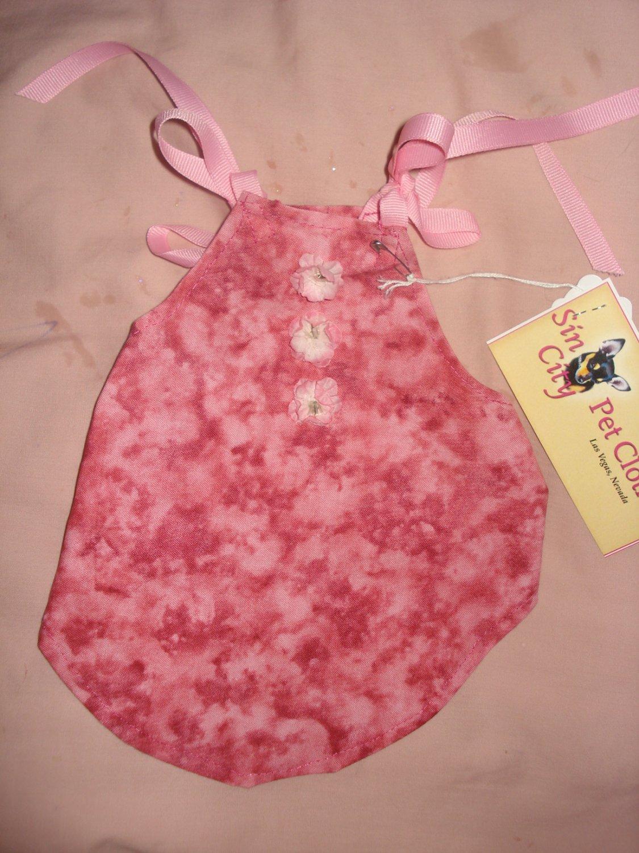 X-Small size pet dress in mauve pink - dd03