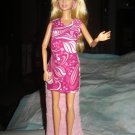 Short pink and white swirl dress for Barbie Dolls - ed76