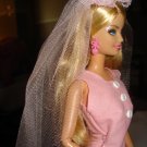 Pink net wedding veil ONLY for Barbie Doll - ed60