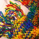 Custom made hand loomed scarf / you pick your favorite solid color - es01