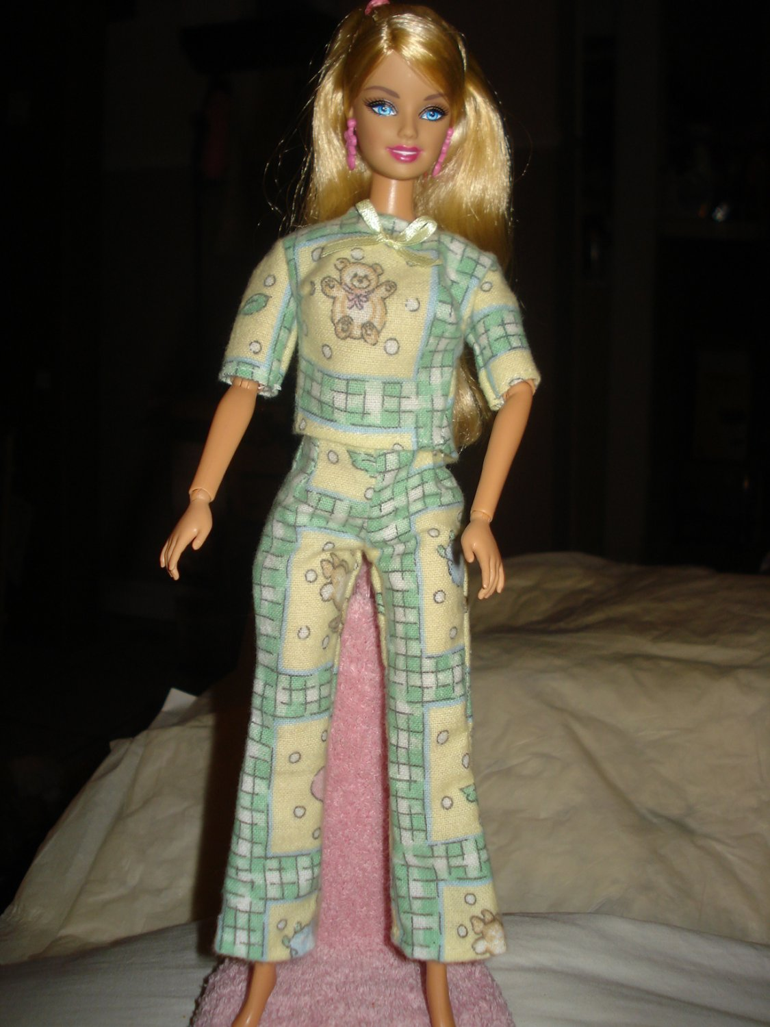 Pajamas in warn flannel for Barbie - ed57