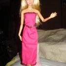 Sequined hot pink long skirt and top set for Barbie Doll - ed44