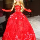 Silkstone Barbie formal in deep red lace - ed39