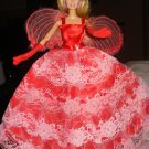 Silkstone Barbie formal in bright red with angel wings ed29
