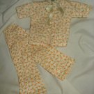 Vintage handmade Barbie Doll pajamas - ev03