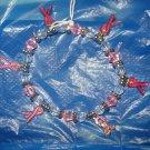 Breast Cancer awareness stretch charm bracelet - eg15