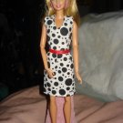 Dalmation black & white dress with red belt for Barbie Dolls - ed111