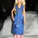 Royal blue modest sleeveless dress for Barbie Dolls - ed128