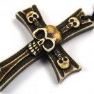 Handmade Gothic Halloween cross pendant & cord - eg20
