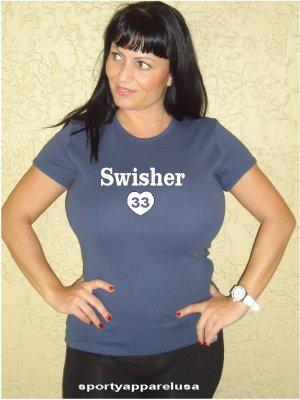 """Womens """"Nick Swisher"""" Yankees T Shirt Jersey S-XXL"""